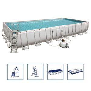 PISCINE Bestway Jeu de piscine Power Steel Rectangulaire 9