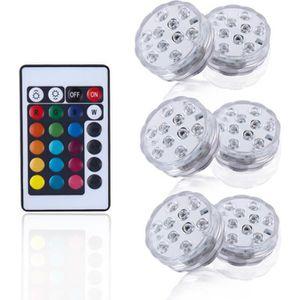 SPOT D'EXTÉRIEUR  6X Spots Extérieur LED RGB Piscine de Jardin IP68