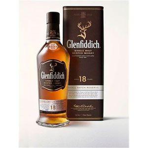 WHISKY BOURBON SCOTCH Whisky Glenfiddich 18 ans d'âge - Small Batch Rese