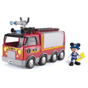 FIGURINE - PERSONNAGE MICKEY Camion De Pompiers