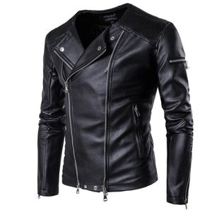 Achat Pas Cher Taille Grande Cuir Blouson Vente Homme fgY6v7by