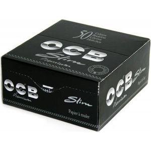 OCB Slim Premium 2 boites//box de 50 carnets de feuilles à rouler longue