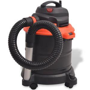 VIDE CENDRES Aspirateur de cendre 1200 W 20 L Noir et Orange As