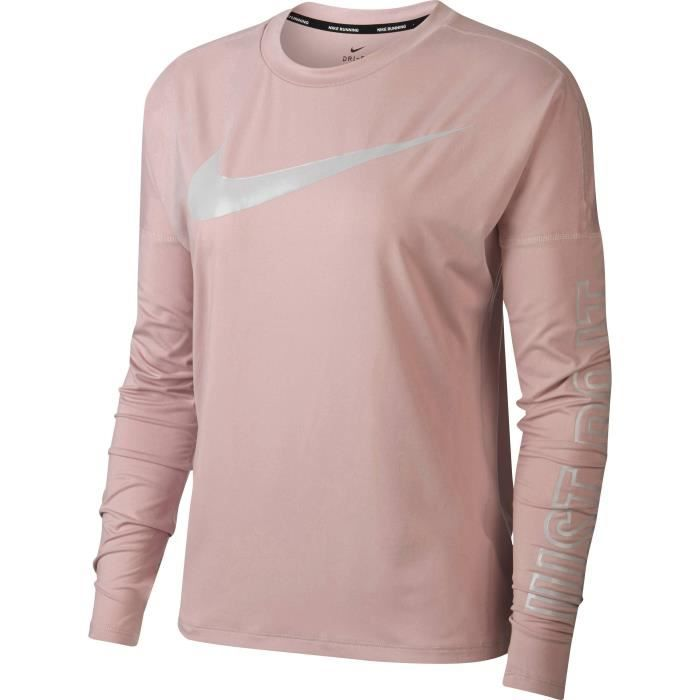 NIKE T-Shirt manches Longues Dry Element - Femme - Rose