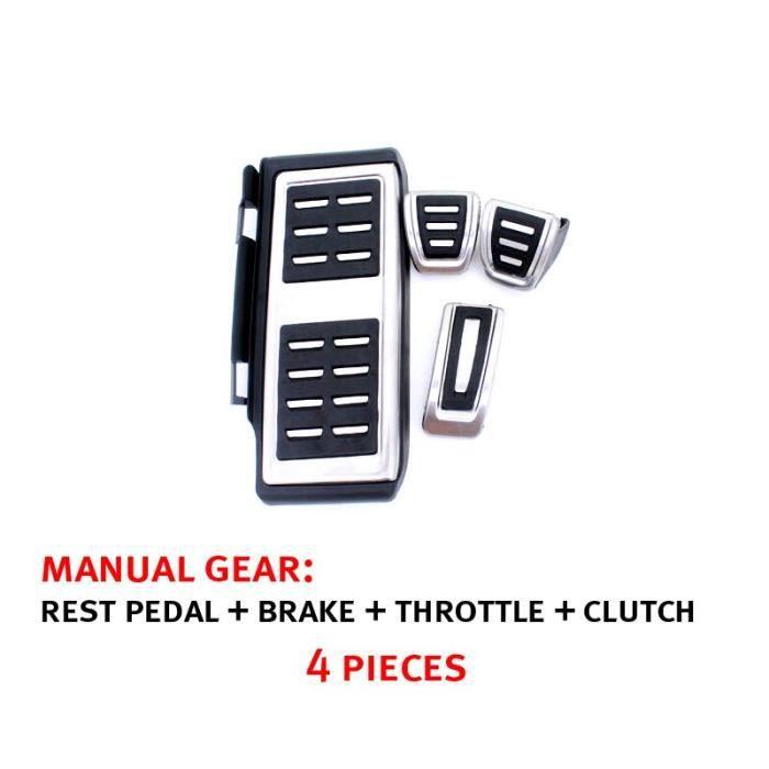 Couvercle de frein et d'embrayage pour pédales, accessoire adapté à la Golf 7 VII MK7 Seat Leon Octavia A7 Rapid Audi [5049705]