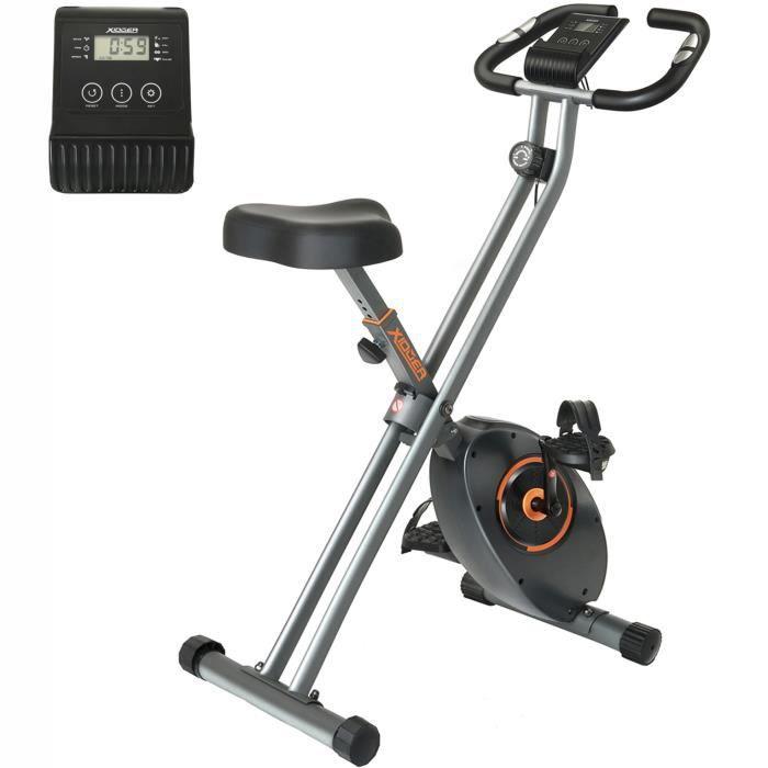 Xiduer Vélo d'Appartement Pliable 8 Niveaux de Résistance avec Volant Magnétique