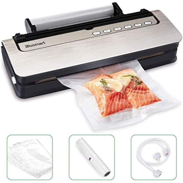 Machine Sous Vide Alimentaire Blusmart 80 kpa Appareil de Mise Sous Vide Alimentaire Automatique avec Fente Amovible et Roller & Cut