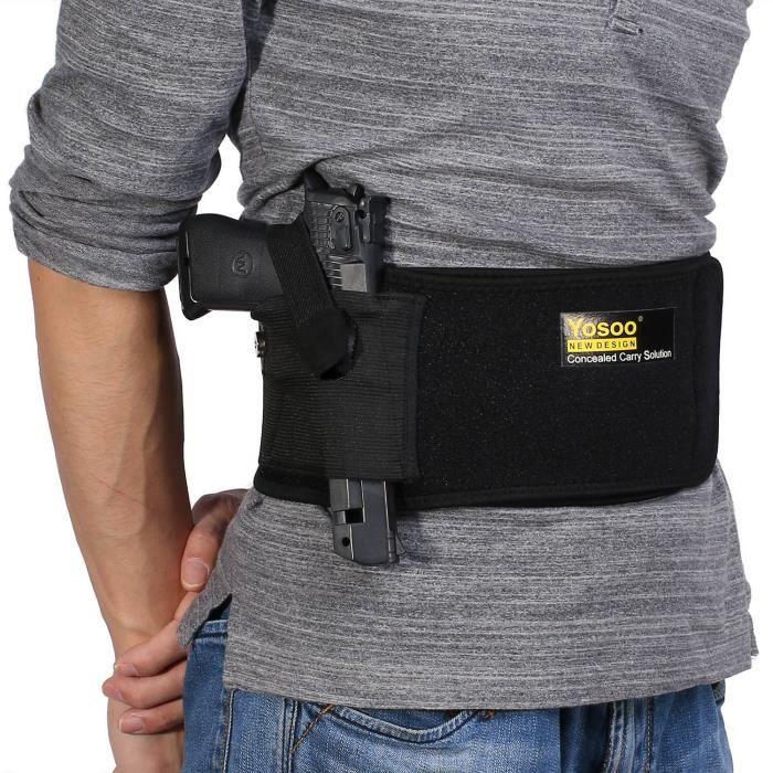 Yosoo Belly Sports étui Band pour transport dissimulé téléphones portables taille unique sangle de maintien amovible
