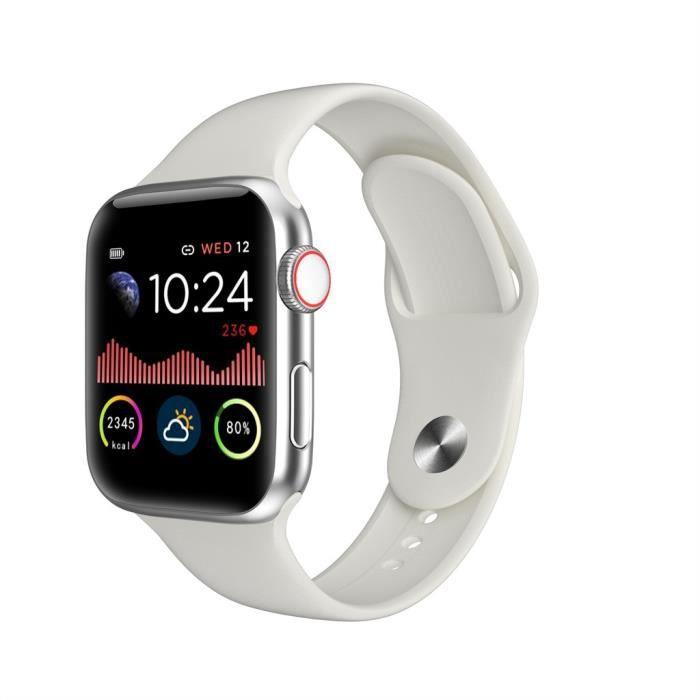 Montre connectée W68 Smart Watch série 5 avec moniteur de fréquence cardiaque étanche FQQ200721108WH_4082