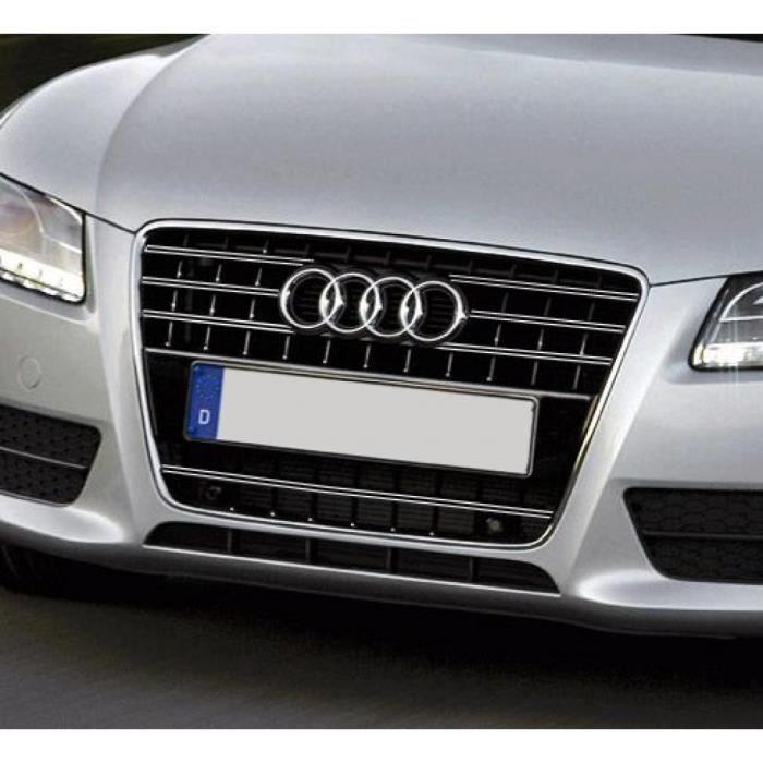 Double baguette de calandre chromée Audi A5 Cabriolet 09-11 Audi A5 Coupé 07-11 A5 Sportback 09-11