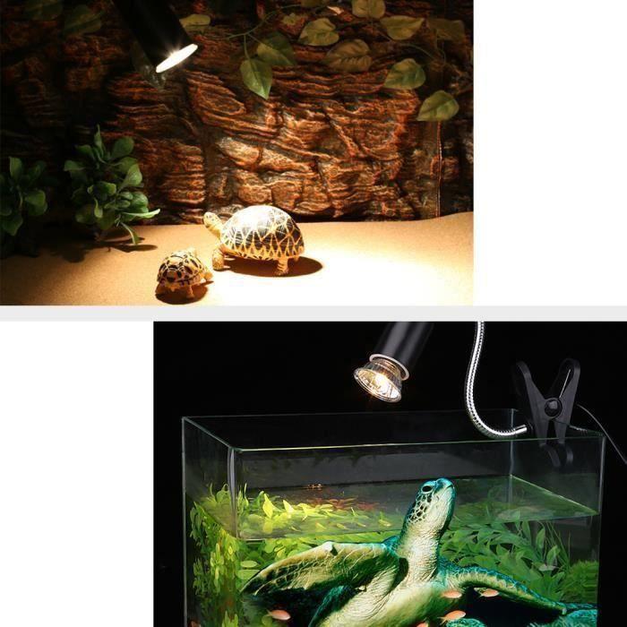 Lampe d'aquarium avec ampoule chauffante 75W pour tortues de reptiles -OHL
