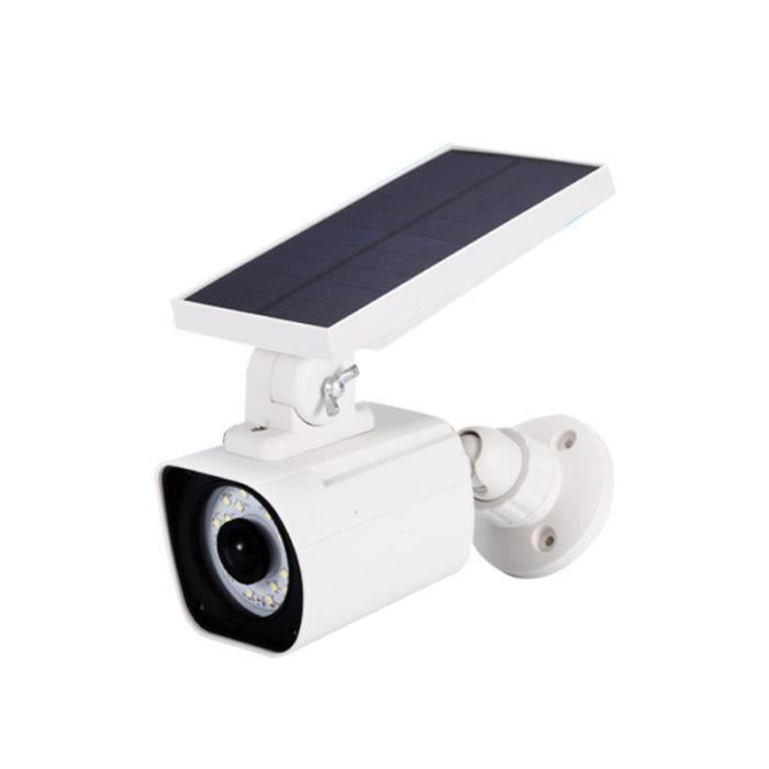 1 lampe de caméras de simulation à énergie solaire PC pour jardin extérieur KIT CAMERA DE SURVEILLANCE - PACK VIDEOSURVEILLANCE