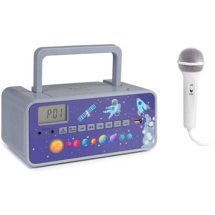 RADIO CD AUNA Kidsbox Boombox CD Lecteur CD Micro Portable Bluetooth Port USB eacutecran LCD sur PilesSecteur Prise Casque 35 m577