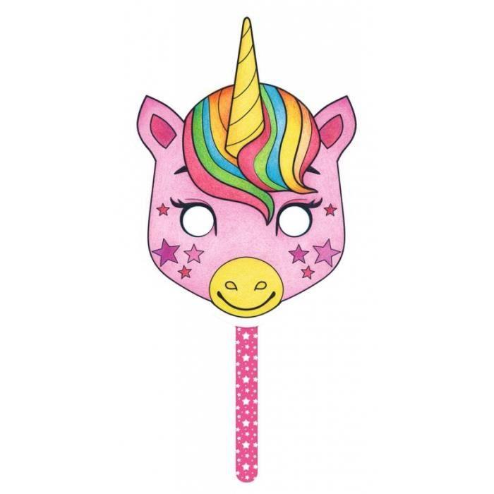 Jouets éducatifs - Masque à colorier - Licorne
