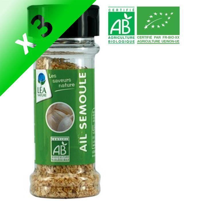 [LOT DE 3] JARDIN BIO Ail semoule bio - 45 g