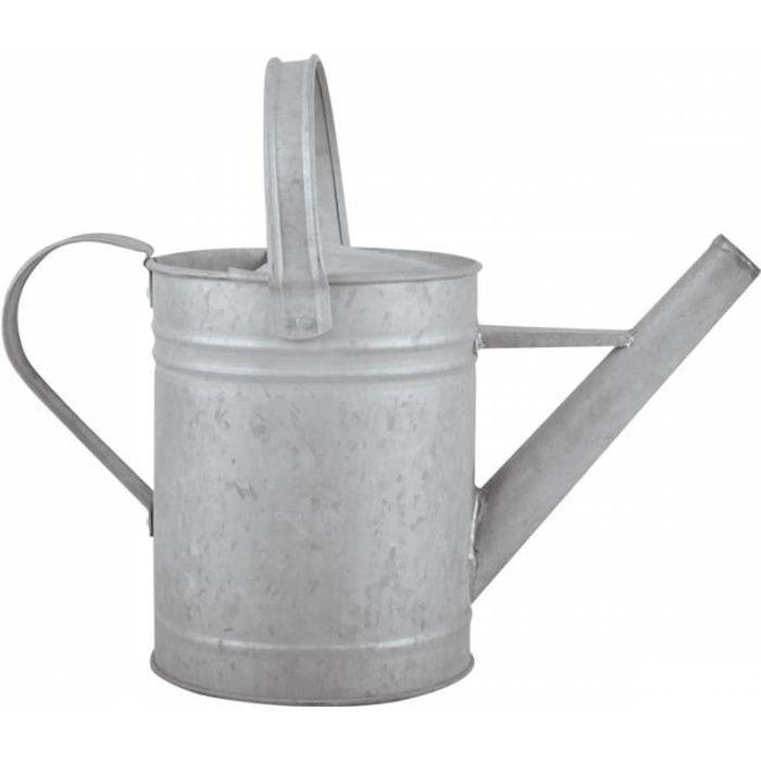 Arrosage et jardinage - Arrosoir en Zinc patiné - 1,5 L 16,5 cm Gris