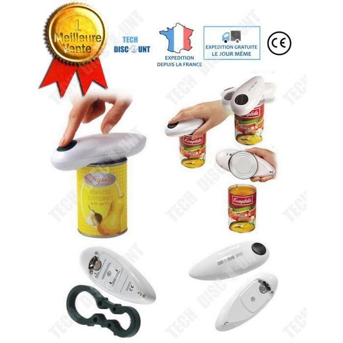 GOBRO Ouvre boîte électrique de conserve manuel professionnel à une main automatique professionnel cuisine bocal tous types intellig