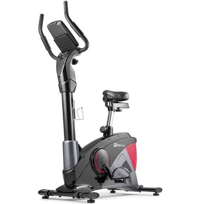 Hop-Sport Vélo d'appartement Ergomètre Apollo HS-090H ROUGE Smartphone Contrôle de résistance sur 32 Niveaux Masse d'inertie 13 kg