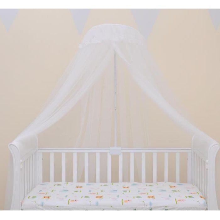 Ciel de Lit pour Enfant Moustiquaire pour lit Bébé Ciel de lit Baldaquin avec Support Fixation