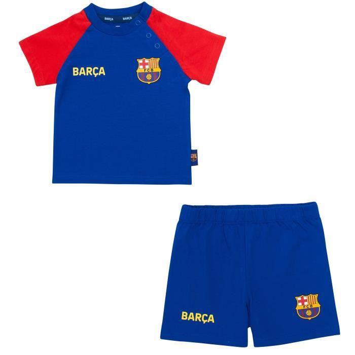 Ensemble bébé T-shirt + Short BARCA - Collection officielle FC BARCELONE