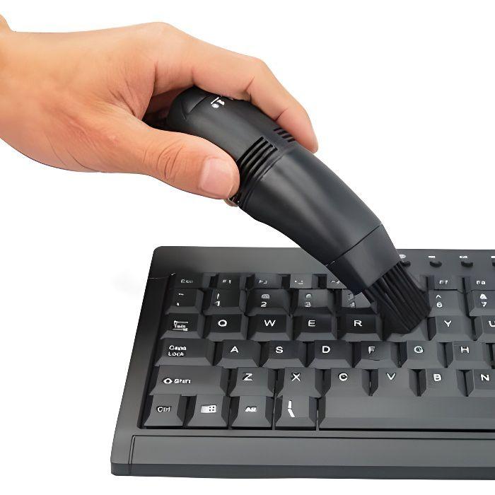 Mini aspirateur USB pour MSI PC & MAC Nettoyer Clavier Portable Ordinateur NOIR
