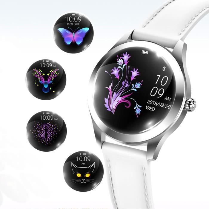 Femmes Montre Connectée, imperméable Bluetooth Smart Watch pour système Android et iOS, Soutien Appel Rappel et Rappel de Message