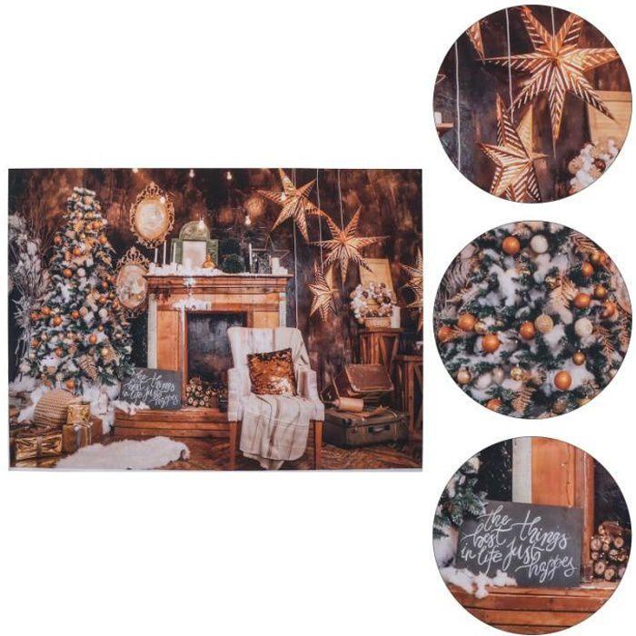 1pc Cheminée Toile de Fond de Noël Creative Mur Tapisserie Photo Toeil de de fond de studio studio photo - eclairage