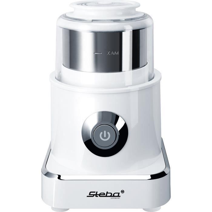 Steba MG 500 Hachoir 4 Lames, électrique, 500 W, cardiofréquencemètre, Bouton, idéal pour légumes et Fruits, Wipe-Off Technologie, b