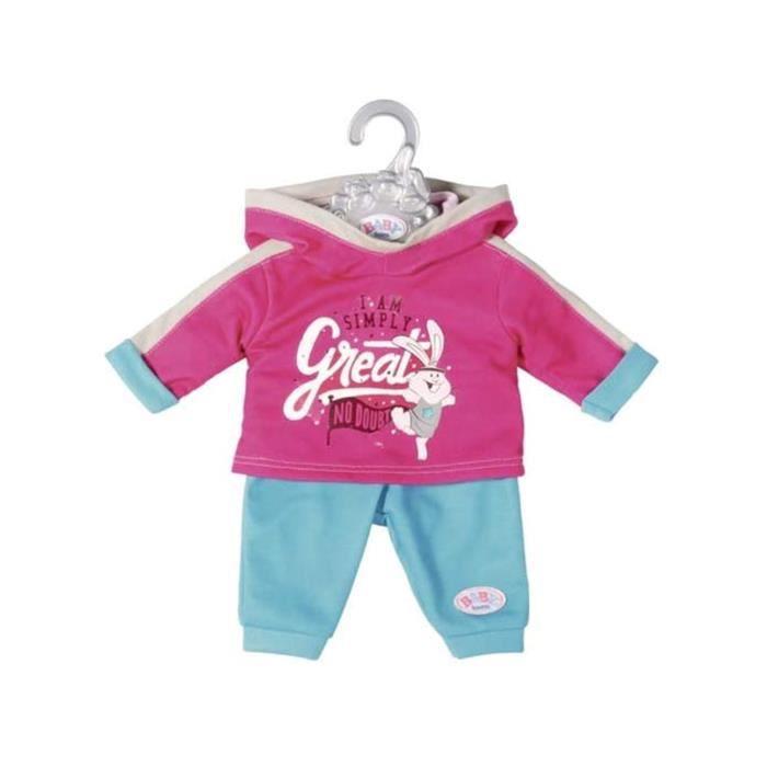 Accessoire pour poupée Zapf Creation 826676-B Baby born Combinaison de loisirs rose-turquoise 43 cm