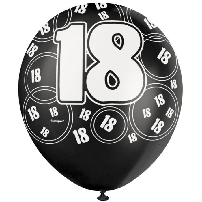 6 ballons anniversaire 18 ans achat vente ballon. Black Bedroom Furniture Sets. Home Design Ideas