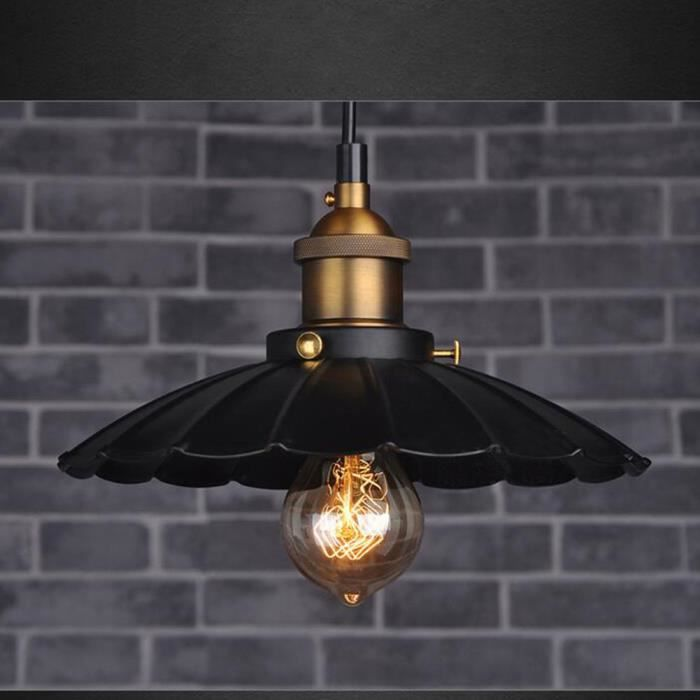Lampe suspension lustre r tro industriel loft diam tre for Suspension cuisine industriel
