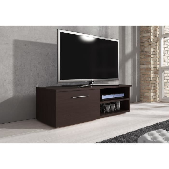 meuble tv vegas ch ne fonc weng 120 cm achat vente meuble tv meuble tv vegas ch ne fonc. Black Bedroom Furniture Sets. Home Design Ideas
