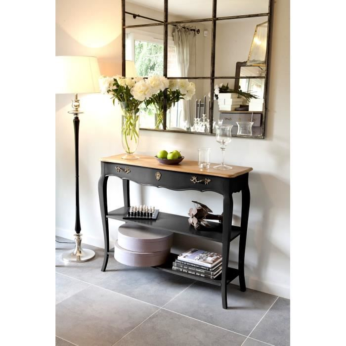 console 1 tiroir 2 tag res pauline noire achat vente console console 1 tiroir 2 tag res. Black Bedroom Furniture Sets. Home Design Ideas