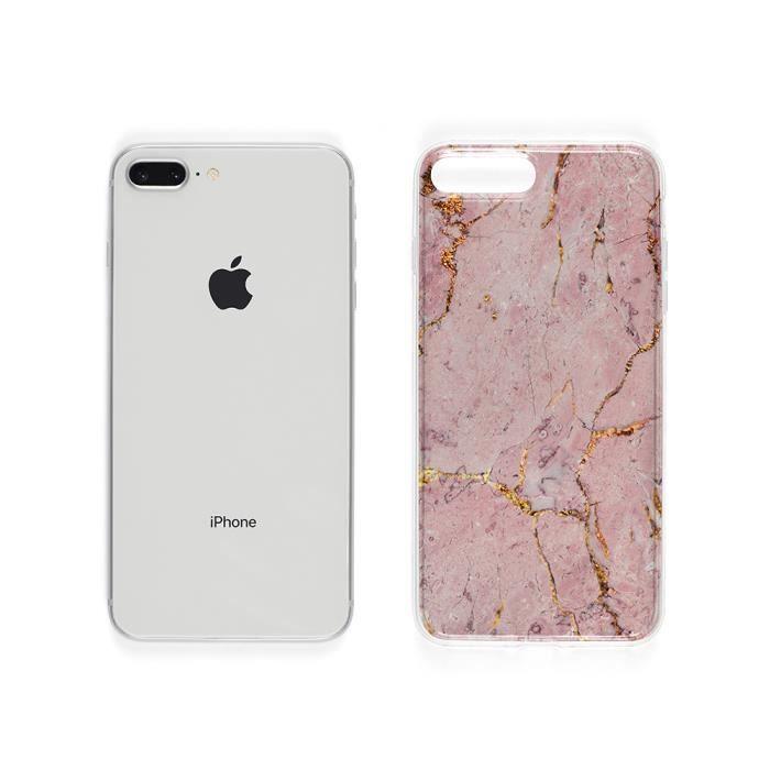 Coque iPhone SE 2020 Marbre Rose Gold – Motif Fun , En Silicone ...