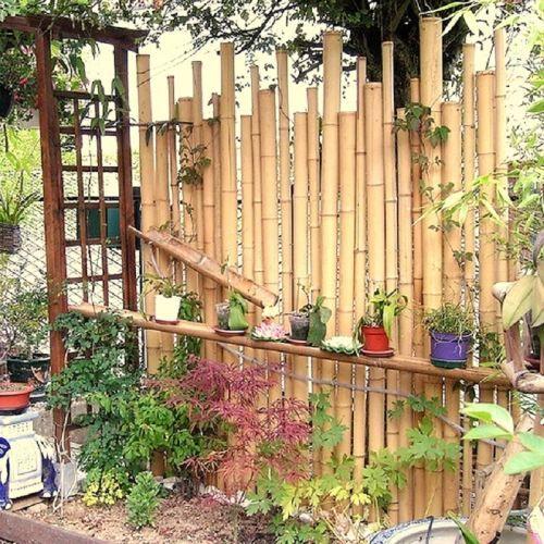 CLÔTURE - GRILLAGE Clôture décorative multi-usages en tige de bambou