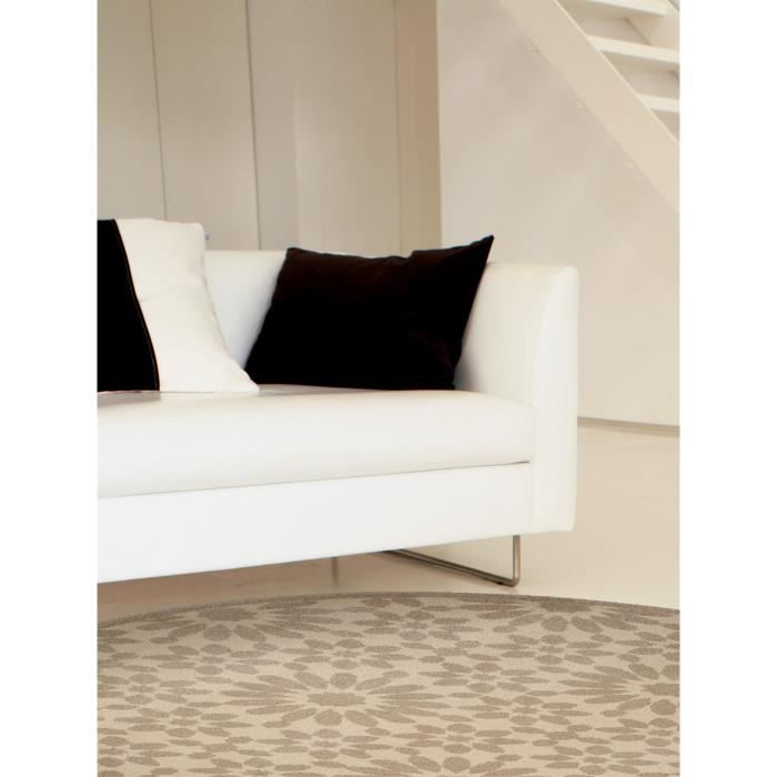 benuta tapis rond gazania taupe 160 cm rond achat vente tapis cdiscount. Black Bedroom Furniture Sets. Home Design Ideas