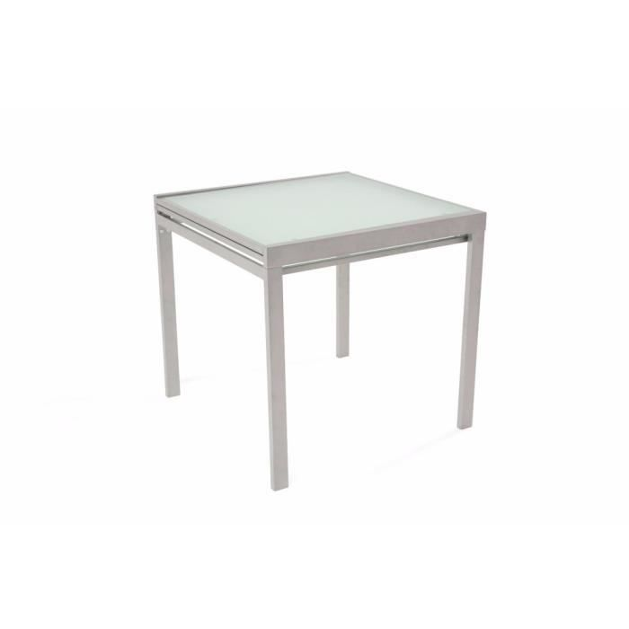Table repas carr extensible verny gris achat vente for Table a manger carre
