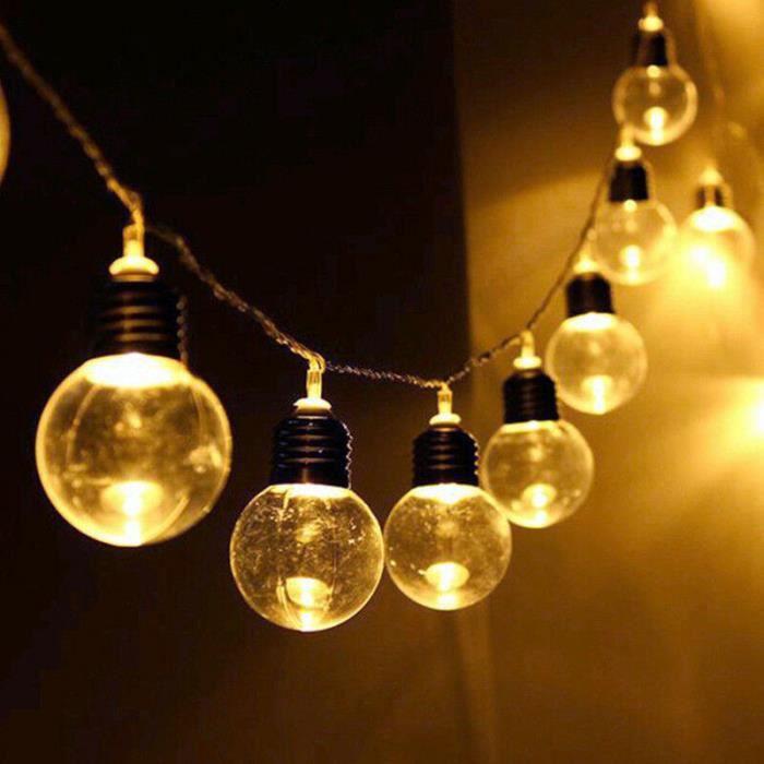 10m 100 LED Guirlande Lumineuse Sooair Guirlande Lumineuse Solaire, Lot de 2
