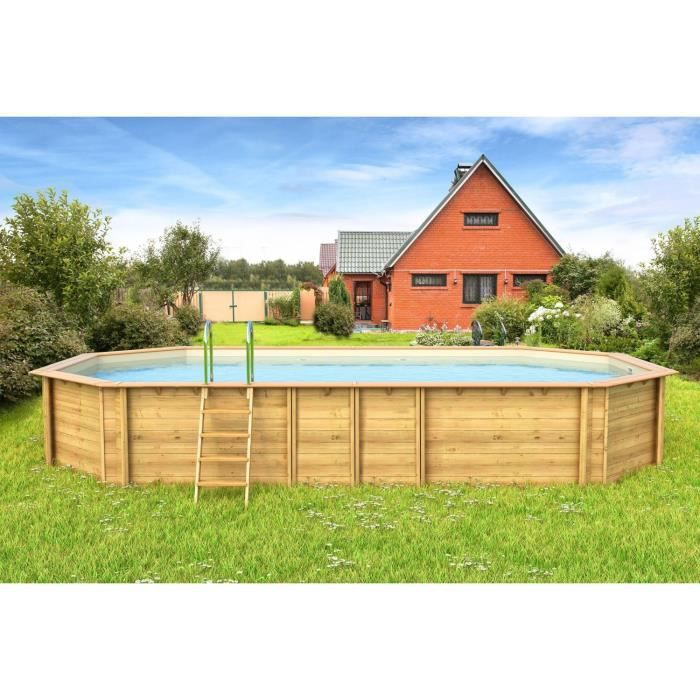 Odyssea piscine bois 8 40 x h 1 33m liner sable achat for Destockage piscine bois