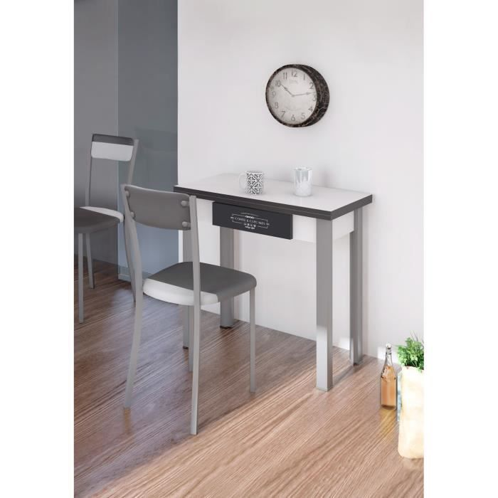 table cuisine grise en agglom r 800 400 x 800 x 754 mm achat vente table de cuisine table. Black Bedroom Furniture Sets. Home Design Ideas