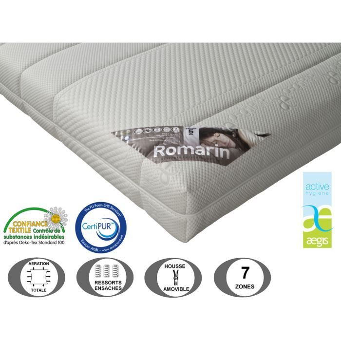 matelas relaxation romarin 21 cm 70 x 190 achat. Black Bedroom Furniture Sets. Home Design Ideas