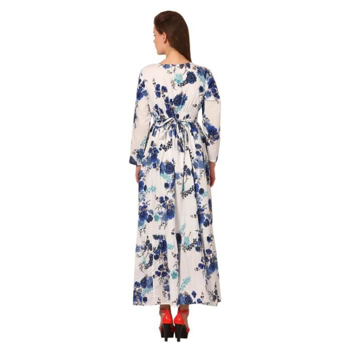 Womens Printed Maxi Dress - Rayon & Export Quality 1ZCKIN Taille-36