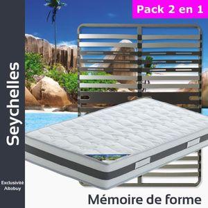 ENSEMBLE LITERIE Seychelles - Pack Matelas + AltoZone 140x200