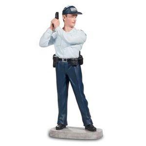 STATUE - STATUETTE POLICIER AVEC ARME LEVEE - Figurine - Collection P