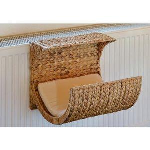CORBEILLE - COUSSIN Hamac de radiateur pour chat en jacinthe d'eau tre