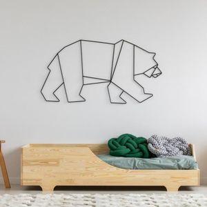 LIT COMPLET Lit enfant - DAVID - 90x190 cm - bois de pin - mat