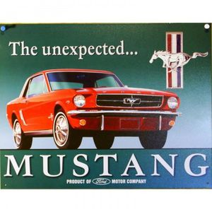 hotrodspirit Plaque Ford Mustang Parking Grise Deco tole Affiche Metal us