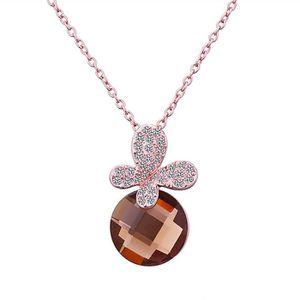 SAUTOIR ET COLLIER Collier pendentif Doré or rose 750/00 18K carats B