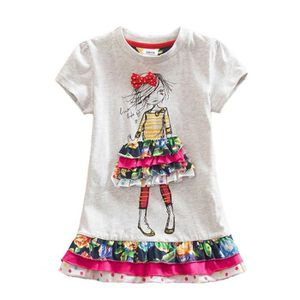 ROBE Robes Enfant Fille Broderie Manches Courtes Coton