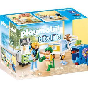 UNIVERS MINIATURE PLAYMOBIL 70192 - City Life L'Hôpital - Chambre d'